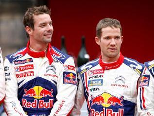 À gauche, le nonuple champion du monde des Rallyes Sebastien Loeb, 40 ans. À droite, Sebastien Ogier, champion du monde en titre, 30 ans, annoncé comme la relève. (Crédit photo : D.R.)