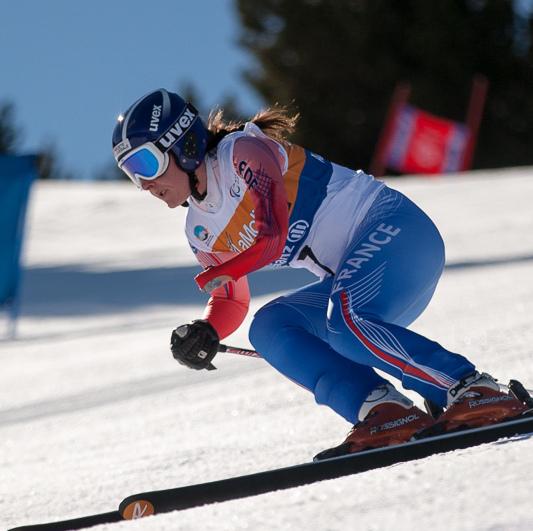Marie Bochet est née avec une malformation de l'avant-bras gauche. Ici, aux championnats du monde 2013. (photo : paralympics.org)