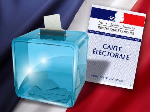 Carte électorale avec urne. (Crédit photo : D.R.)