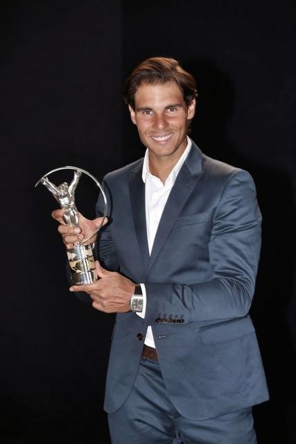 Rafael Nadal ajoute un nouveau trophée à sa carrière de sportif avec le Laureus du come-back de l'année/DR