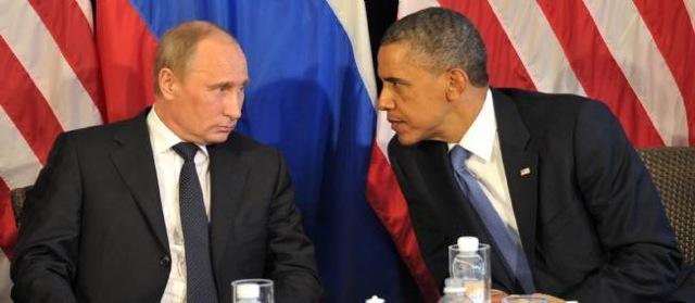 Vladimir Poutine et Barack Obama lors d'un sommet mondial, sous un climat tendu. Photo  Aleksey Nikolskyi / RIA NOVOSTI