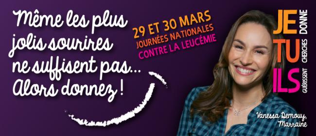 Vanessa Demouy était la marraine des 1ères journées nationales contre la leucémie/ DR