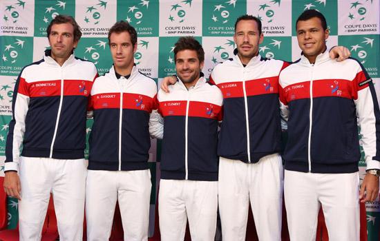 L'Equipe de France de Coupe Davis/ DR