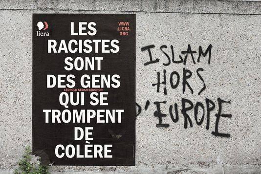 """""""Racisme sont des gens qui se trompent de colère""""/ Crédit: Licra"""