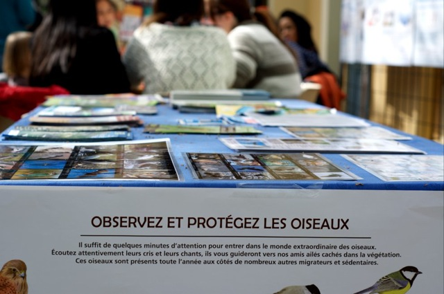 le stand de la LPO à la maison de l'environnement de Nice le samedi 5 avril