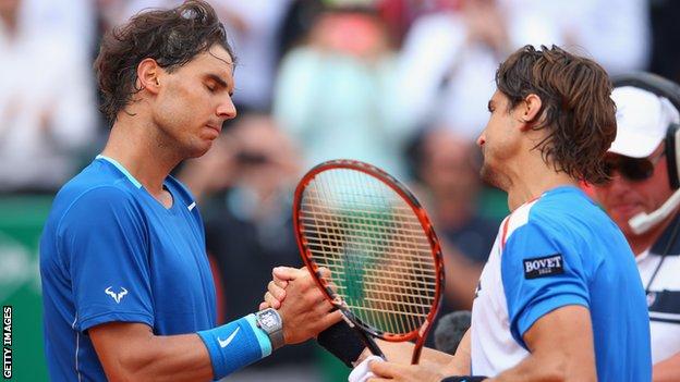 Rafael Nadal s'est incliné dès les quarts de finale cette année à Monte-Carlo face à David Ferrer/ DR
