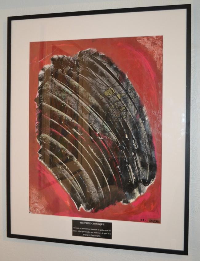 Trophée cosmique, tableau auquel le peintre s'identifie le plus. Crédit: A. De Larquier