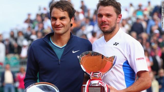 Federer (à gauche) et Wawrinka (à droite) font de 2014 une belle année pour le tennis suisse/ DR