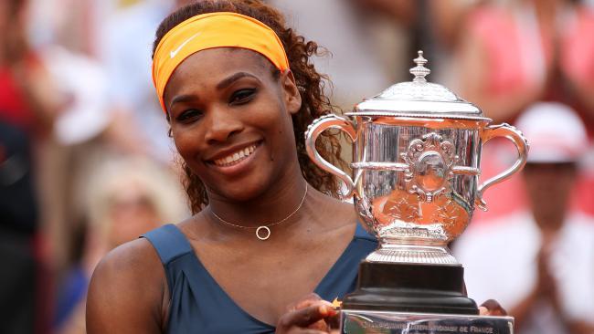 Serena Williams lors de sa victoire à Roland-Garros en 2013/ DR