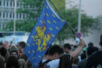 Le drapeau de la Franche-Comté. (Crédit Photo : Nicolas Richen)