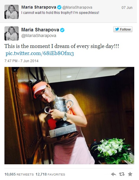 tweet Sharapova