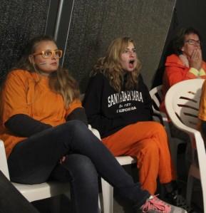 Lara, Amber et Annette sont sous le choc: les Pays-Bas sont éliminés en 1/2 finale de la Coupe du monde (Crédit : DD)