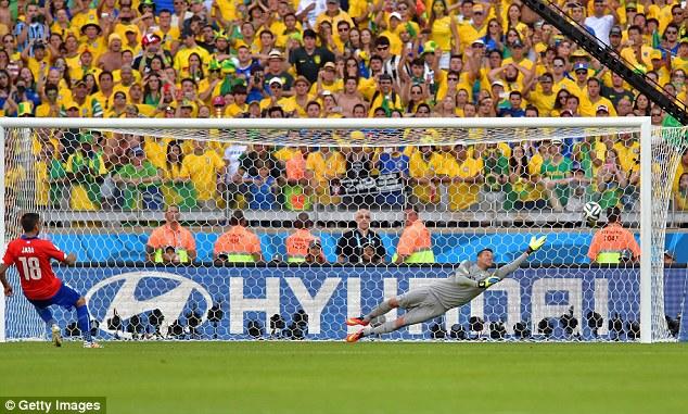 Si Jara n'avait pas mis son pénalty sur la barre, le Brésil aurait peut-être été éliminé dès les huitièmes de finales. (Crédit photo: Getty images)