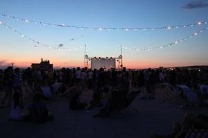 Les visiteurs ont même l'occasion d'observer le coucher du soleil. (crédit GD)
