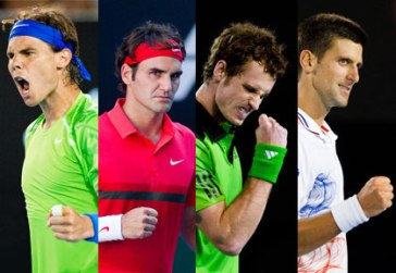 Rafael Nadal, Roger Federer, Andy Murray et Novak Djokovic composent le Big Four du tennis mondial/ Crédit photo : D.R