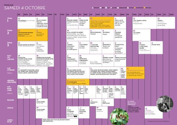 Programme du samedi 4 octobre.