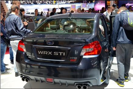 La Subaru WRX STI est le modèle sur lequel la marque repose ses espoirs. Elle est la suite de la Subaru Impreza qui a marché dans le monde entier, notamment grâce aux titres de Colin McRae en Rallye. (Crédit photo : Jérémy Satis)