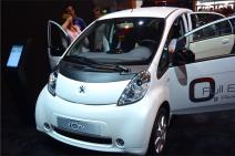 La Peugeot ION est 100% électrique. Elle est la concurrente directe de la renault Zoé. Cette citadine est en vente à partir de 29 600 euros. (Crédit photo : Jérémy Satis)