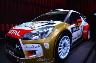 La Citroën DS3 WRC rendu célèbre par Sebastien Loeb qui a été sacré champion du monde des rallye (8e et 9e titres) en 2011 et 2012. (Crédit photo : Jérémy Satis)