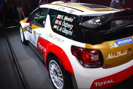 Sebastien Loeb parti en WTCC, c'est désormais Kris Meeke et Mads Ostberg qui ont l'honneur de conduire la belle. Khalid Al-Qassimi est le troisième pilote de la marque. (Crédit photo : Jérémy Satis)