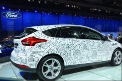 """Avec 12 millions de propriétaires dans le monde, la Ford Focus est la voiture la plus vendue au monde. Ford a lancé l'événement """"Célébration Focus"""" pour fêter cette bonne nouvelle. (Crédit photo : Jérémy Satis)"""