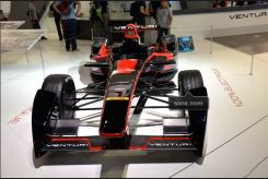 La F1 Venturi (constructeur monegasque) 100% électrique qui s'est lancée en Formule E. (Crédit photo : Jérémy Satis)
