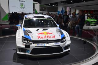 La Volkswagen Polo R de Sebastien Ogier, Jari-Matti Latvala et Andreas Mikkelsen était présente au mondial. (Crédit photo : Jérémy Satis)