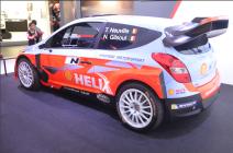 Dans la catégorie sport auto, la Hyundai i20 WRcde Thierry Neuville. Le belge est vice-champion du monde des rallyes en titre et a remporté cette année le rallye d'Allemagne. (Crédit photo : Jérémy Satis)