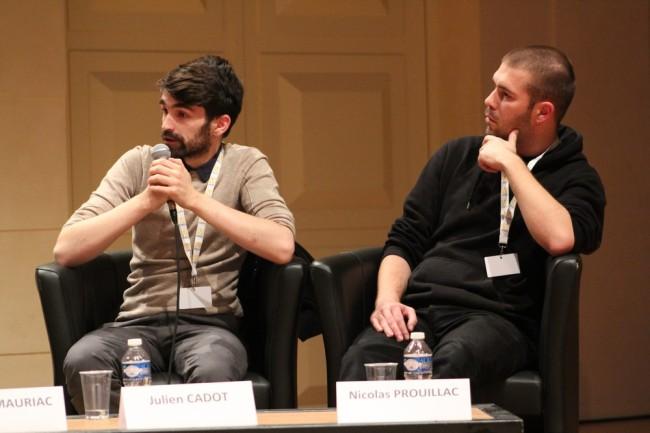 Julien Cadot (à gauche) et Nicolas Prouillac (à droite) ont créé avec trois amis Ulyces. (crédit photo : Manon David)