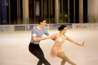 Yura Min et Timothy Koleto (Corée) ont terminé 5è dans la catégorie danse sur glace (crédit photo : Eva Garcin)