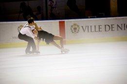 Olivia Smart et Joseph Buckland (Grande-Bretagne) ont terminé 2è dans la catégorie danse sur glace (crédit photo : Eva Garcin)