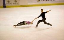 Vera Bazarova et Audrey Deputat (Russie) ont terminé 2è dans la catégorie patinage par couple (crédit photo : Eva Garcin)