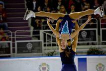 Matteo Guarise et Nicole della Monica (Italie) dans un portée spectaculaire (crédit photo : Eva Garcin)