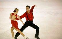Lolita Yermak et Alexei Shumski (Ukraine) ont terminé 3è dans la catégorie danse sur glace (crédit photo : Eva Garcin)
