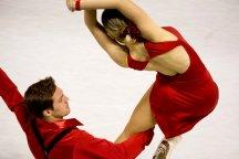 Lolita Yermak et Alexei Shumski (Ukraine) ont enflammé la patinoire avec de la danse sur glace (crédit photo : Eva Garcin)