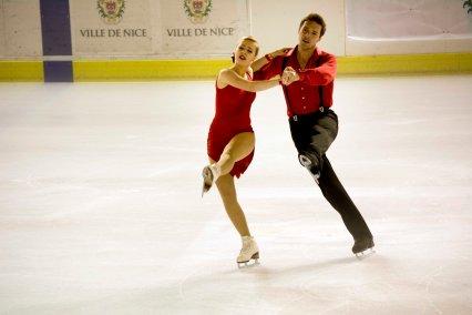 Lolita Yermak et Alexei Shumski (Ukraine) interprétaient un très beau programme de danse sur glace (crédit photo : Eva Garcin)
