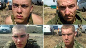 Militaires russes faits prisonniers par l'armée ukrainienne les 27 et 28 septembre alors qu'ils avaient traversé la frontière « par accident ». (Crédit photo : AFP)