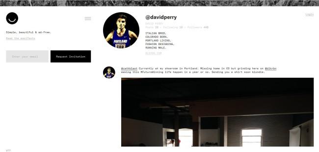 Photo. Ello, capture d'écran de l'interface