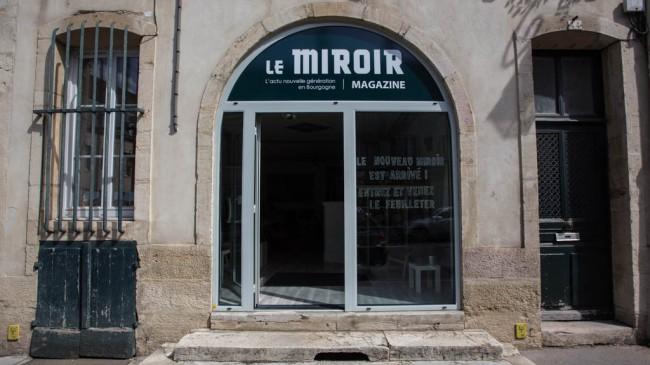 La façade des locaux du Miroir Mag à Dijon (crédit : Jonas Jacquel)