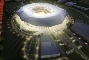 Maquette du futur Stade des Lumières à Lyon (Crédits photo: immersive solutions)