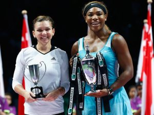 Simona Halep, finaliste et Serena Williams, vainqueur du Masters de Singapour. (Crédit Photo : D.R)