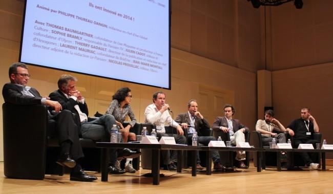 Cinq projets étaient présentés lors de la conférence. (Crédit photo : Manon David)