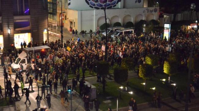« Manifestants dans les rues » : Les manifestants ont totalement paralysé les rues de Budapest (crédit PB)