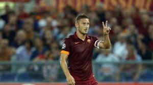 Non, Francesco Totti, la Roma est troisième de son groupe. Crédit Photo : D.R.)