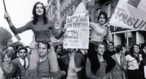 Dany le rouge lance le mouvement du 22 mars avec ses camarades étudiants. Crédit photo : D.R.