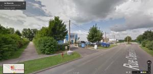 Les frères Kouachi se sont retranchés dans cette imprimerie à Dammartin-en-Groëlle, Seine-et-Marne. (Capture d'image Google Maps)
