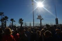 Une marche républicaine sous le soleil azuréen et quelque 20 degrés. (Crédit photo : Jérémy Satis)
