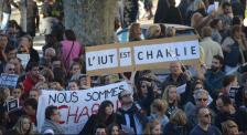 Les étudiants de Cannes et de Sophia-Antipolis dans le cortège de manifestants.(Crédit photo : Jérémy Satis)