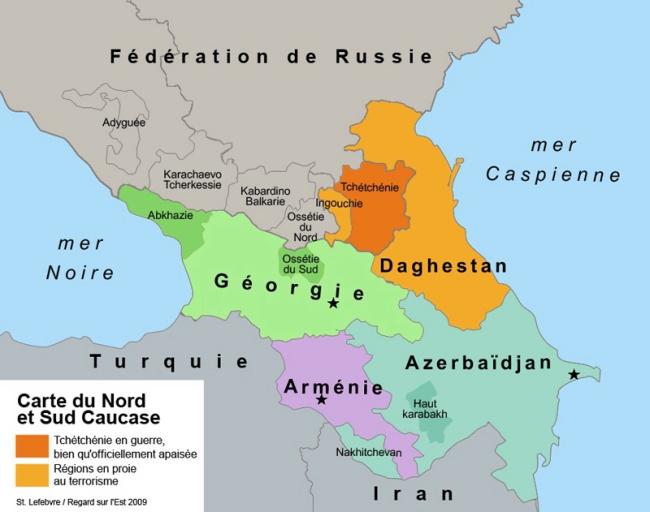Carte de Tchétchénie crédit hautefort.com 2012
