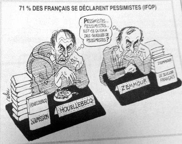 Le dernier dessin de Cabu, dans le n°1177 de Charlie Hebdo, paru le jour du drame. (Crédits : DR)